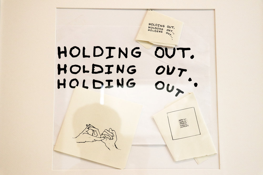 'Holding Out' Hand Drawn Images