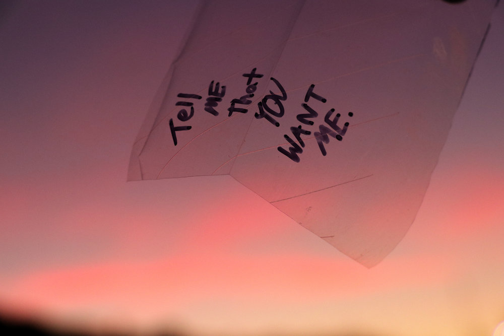 """""""Tell Me That You Want Me"""" Transparent Paper"""
