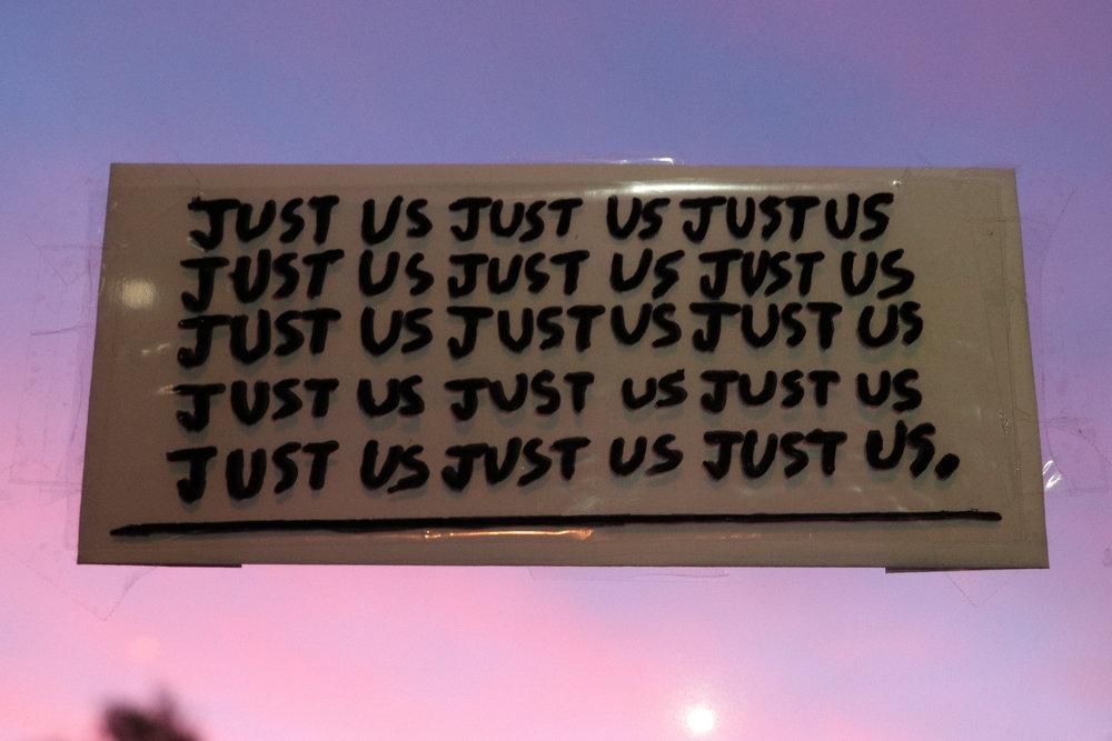'Just Us' Sticker