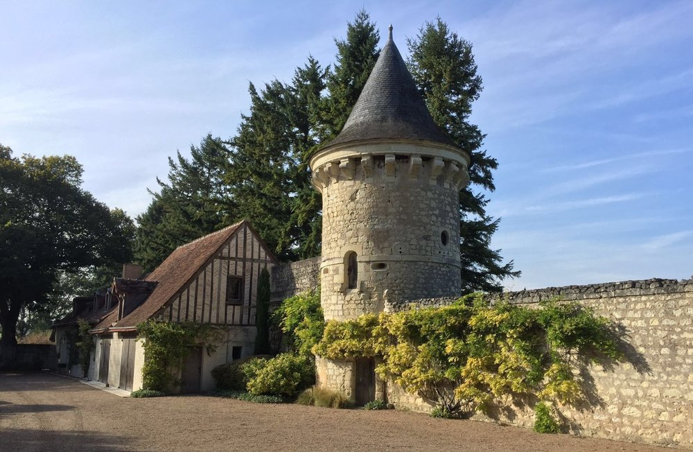 Watch Tower and Archway through to Truffle Orchard at La Fuye
