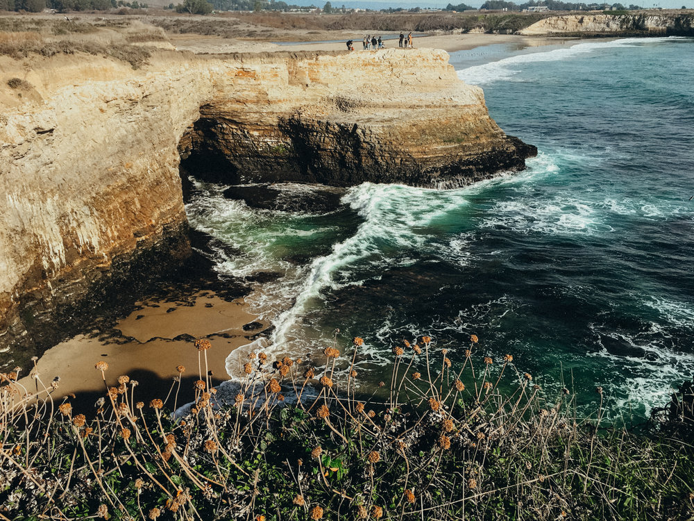 The cliffs at Wilder Ranch State Park in Santa Cruz, California. Just look how blue the water was!