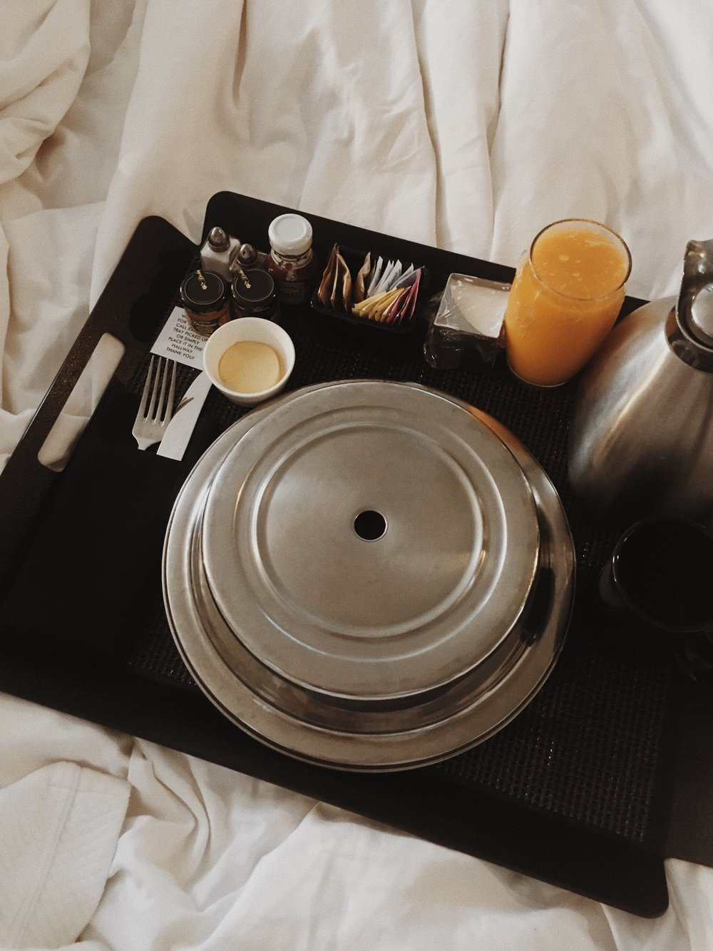 Breakfast in bed? Heck yes! Room service at the Hotel Republic did not disappoint.
