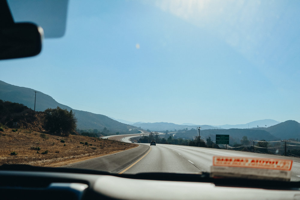 On the I-8 east towards Mount Laguna