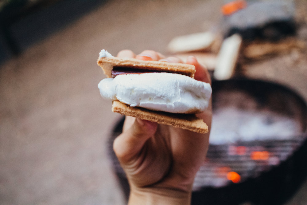 smores are always a camping favorite