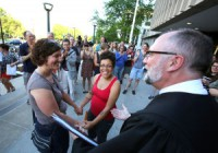Mel Freitag and Amber Sowards getting Married! Credit to Amber Sowards of the Wisconsin State Journal.