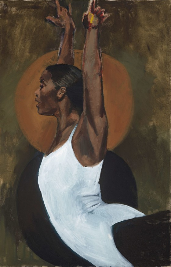 "Lynette Yiadom Boakye's ""Light of the Lit Wick"" Source: The New Yorker"