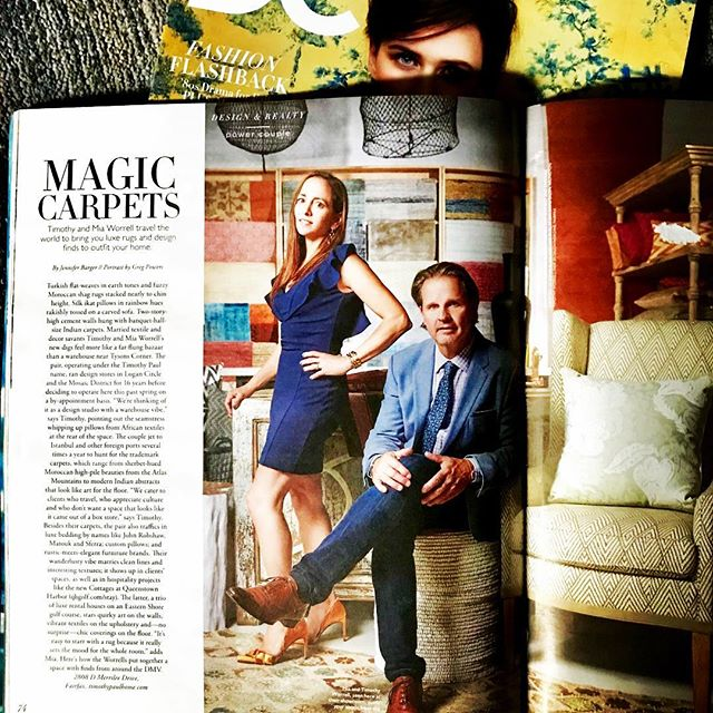 We're humbled. Thank you @DC modern Luxury and writer Jennifer Barger for great plug in the fall issue. Photographer Greg Powers turned back the clock and made us look great. #gregpowersphotography #romo#circalighting #visualcomfort #queenstownharborgolf #crateandbarrel #hemphillfinearts #timothypaulhome #timothypaulcarpets