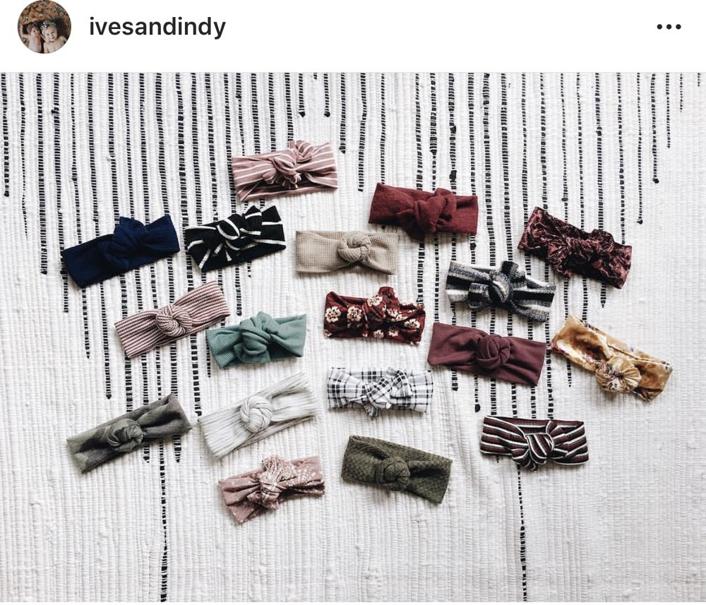 Ives+Indy - You can find her on IG and Etsy, and she literally makes the CUTEST headwraps for your little ones. Such good quality. She recently released her fall line, which includes turban style and tie headbands. The best part, you can match your babe! A lot of her options are neutral, which makes it easy to use them year round. There's always a promocode. But honestly, they're priced well without it. If you follow her on IG, she does run some specials in her stories. Best of all, you can keep up with those super cute babes of hers!