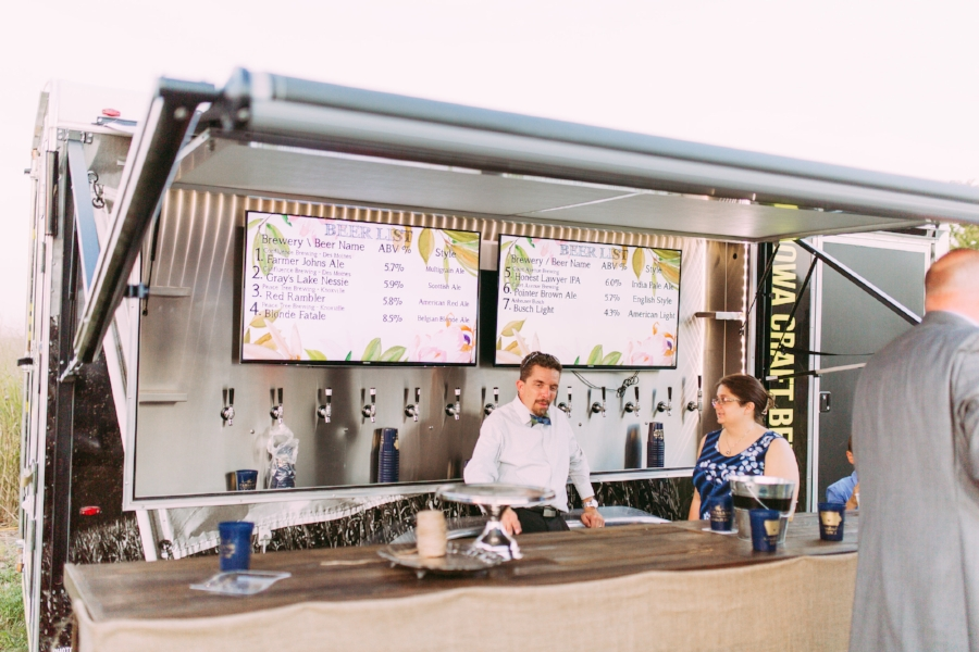 Craft Beer Truck & Amazing Wedding Guests Turned Bartenders