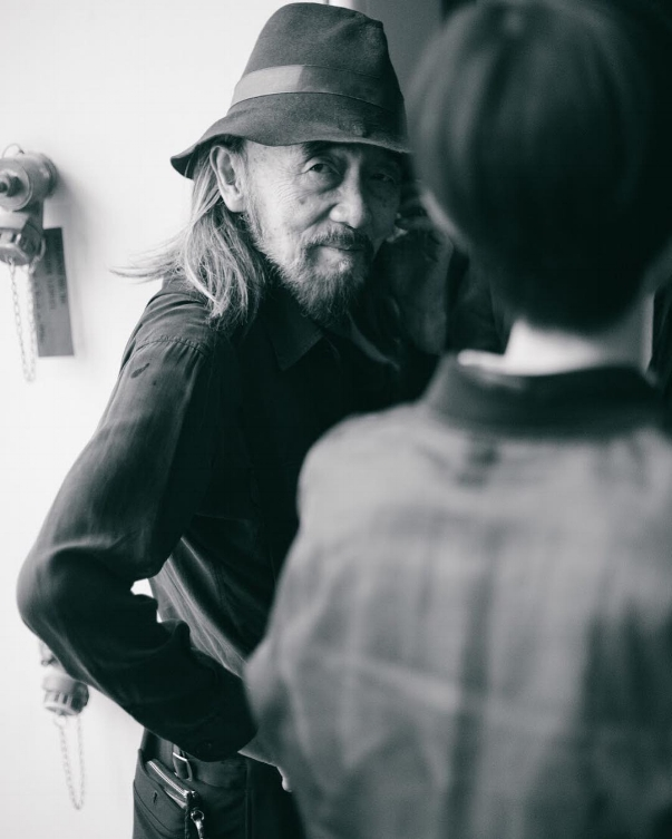 A casual  Yohji Yamamoto  at  Y-3  for  @purplefashionmagazine  by ©  Christina Fragkou , courtesy of the artist