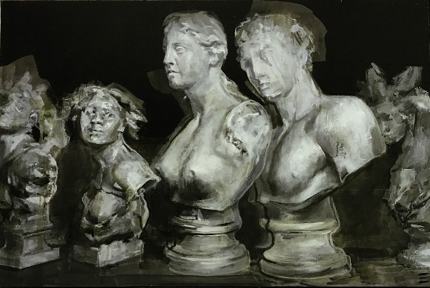 Cast busts, oil on canvas by ©  Erin Nicole Henry , courtesy of the artist