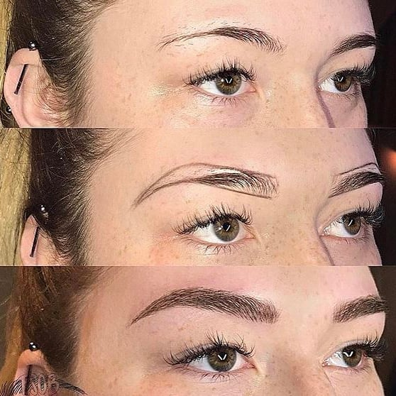 Before | shaping | after  Results are expected to last anywhere between 1-3 years colour - retention will vary between each individual client. Depending on skin type and lifestyle.  We love that you can get an instant transformation just after one procedure!  Book in your consultation @bystella HQ for Summer ready brows!  #bystella_cosmetictattooing #bystellabrows #bystellashaping 📞1300 001 218  Enquire Today -Link in Bio