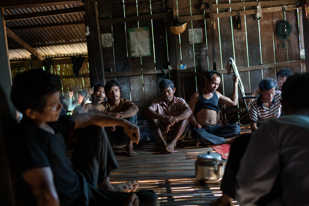 May 25, 2015 - Kbal Romeas, Cambodia. Villagers meet to discuss their future and possible options regarding the pending eviction of their community from Kbal Romeas village. When complete the nearby Lower Sesan 2 Dam will flood Kbal Romeas village. © Nicolas Axelrod / Ruom for Oxfam.