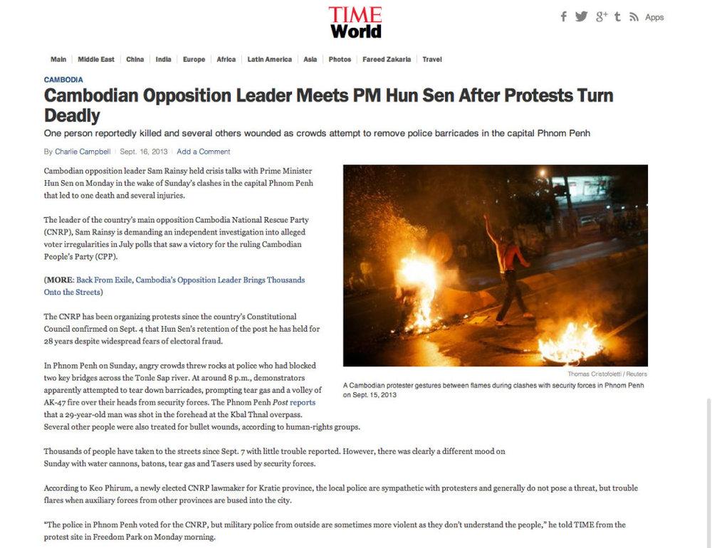 TIME Magazine - Thomas Cristofoletti / Reuters