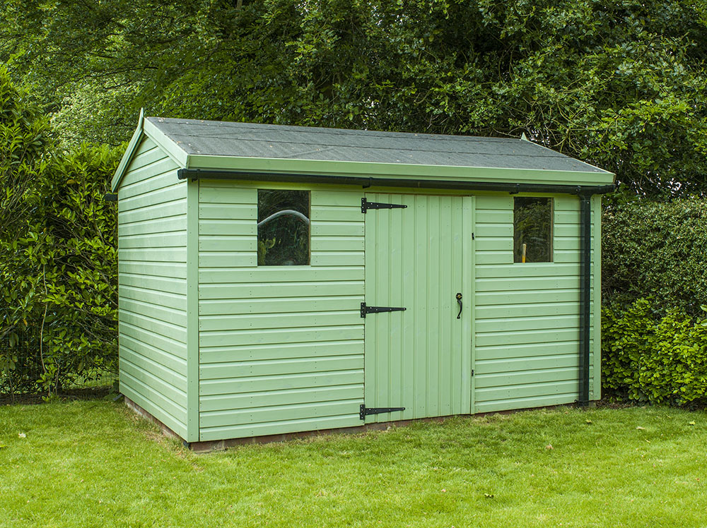 Traditional garden shed