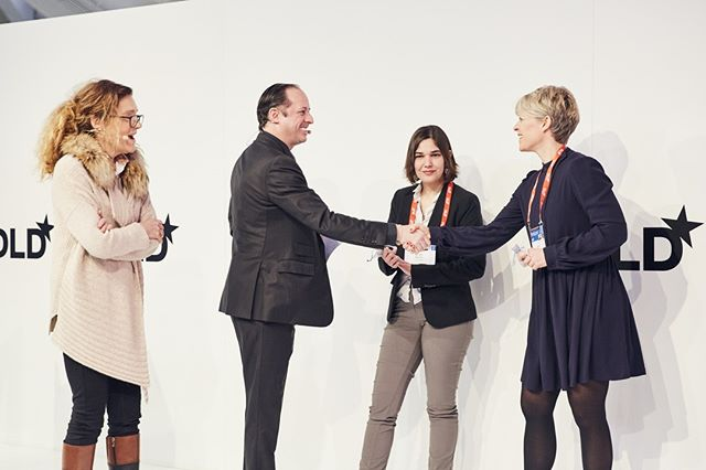 It was a great ceremony where the Inspiring Fifty DACH winners received a special InspiringFifty Pin as an award . Photo credits: Dominik Gigler  #InspiringFifty #Inspire #Women #Tech #Proud #Award #DLD #Munich