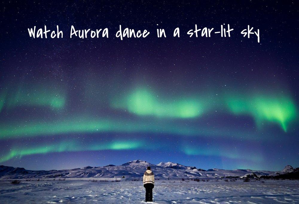 Aurora at Volcano Huts