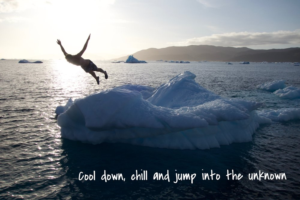 jumping off an iceberg