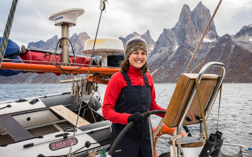 Sofie, op een Russisch expeditiejacht in Groenland 2016