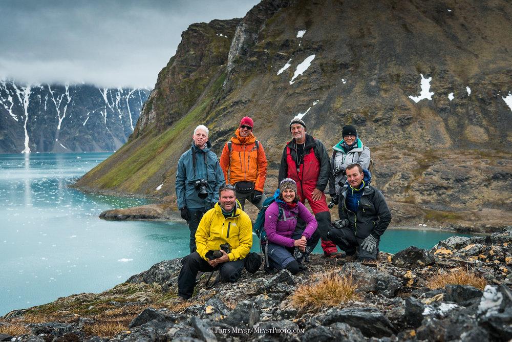 Een groepje Puffins in Spitsbergen, foto door Frits Meyst, Puffins expeditie 2018