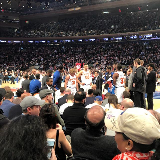 Knicks-Celts game @ Madison Square Garden