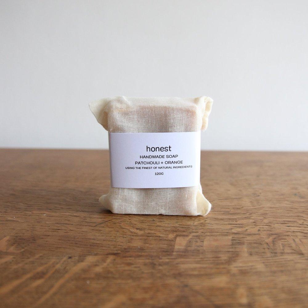 honest Patchouli + Orange soap,  £12,  Buy now