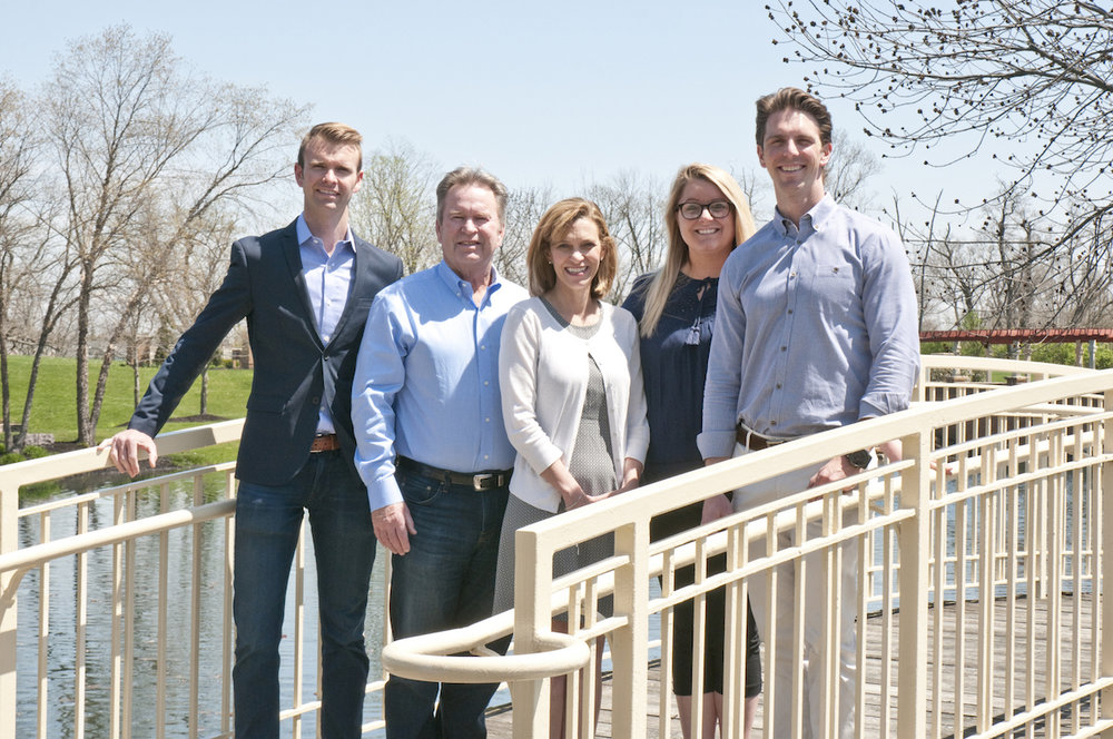 The Build Cincinnati of Coldwell Banker West Shell Team (from left to right): Bob Hines, Bill Hines, Becky Mannix, Emma Hanselman & Mike Hines