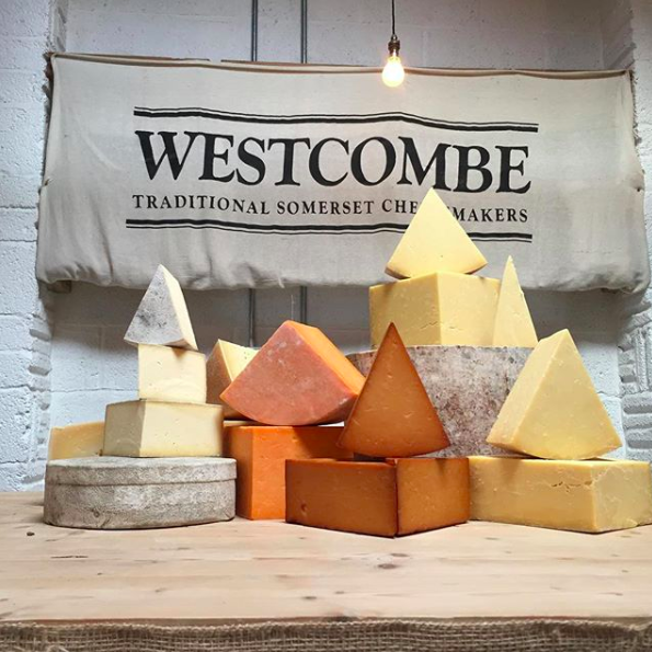 Westcombe Dairy   You will have seen Westcombe cheese on a few special dining menu's around the country and we are lucky enough to have their Dairy farm and shop on our doorstep. With Wild Beer sharing the plot of land they inhabit, you can sign up for cheese & beer tastings as well as pick up a bottle of Somerset Cider brandy, perfect with a slab of cheddar.