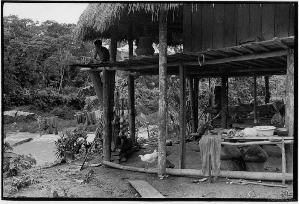 Dwelling , Quichua, Canelos, Pastaza, Oriente Ecuador, Amazonia, 1999