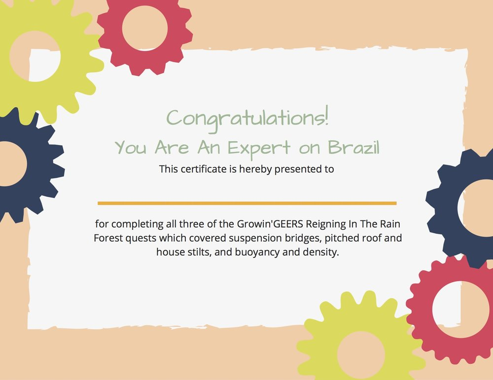 Reigning In The Rain Forest Completion Certificate.jpg
