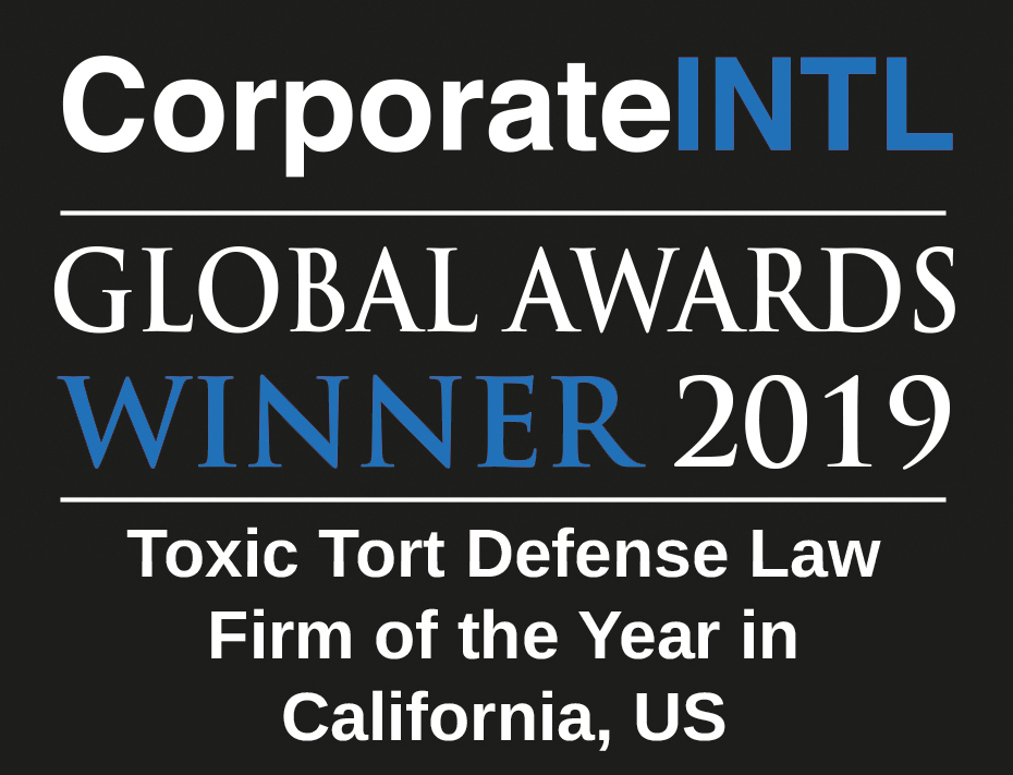 TOXIC TORT DEFENSE LAW FIRM OF THE YEAR IN CALIFORNIA