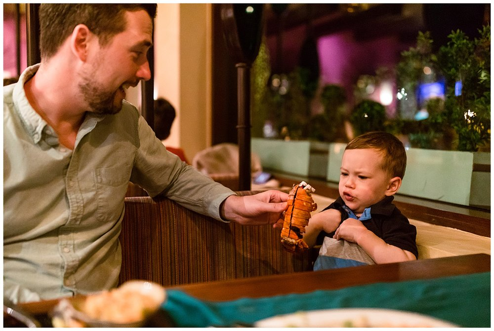 Ben was petrified of the lobster shell…it might of had something to do with Justin pretending he ate Marshall from Paw Patrol though;)