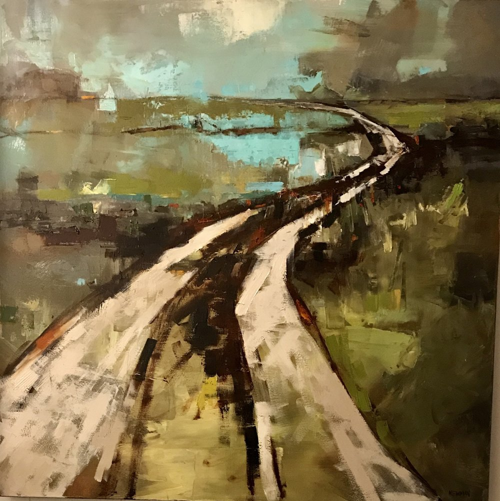 Road to Blue 36x36 oil on canvas .jpg