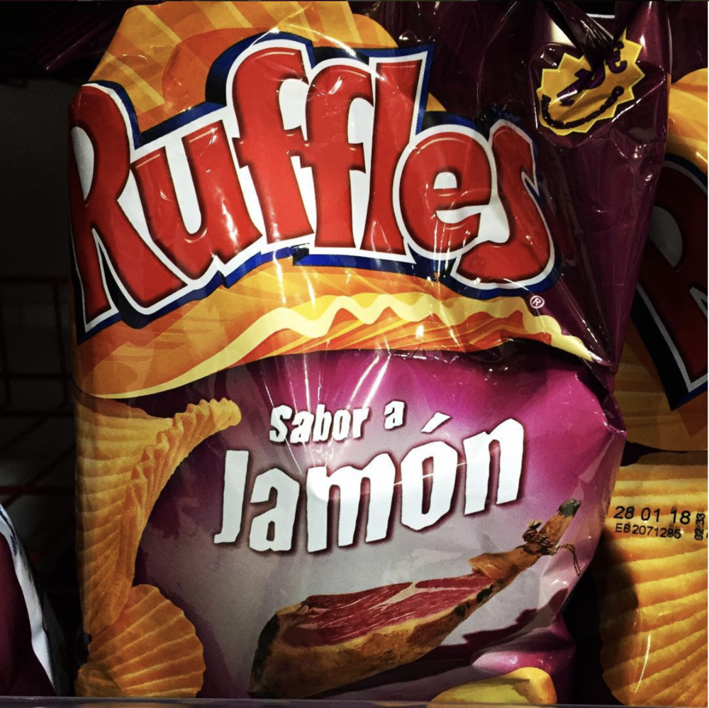 HAM CHIPS! Take my ass back to Spain.
