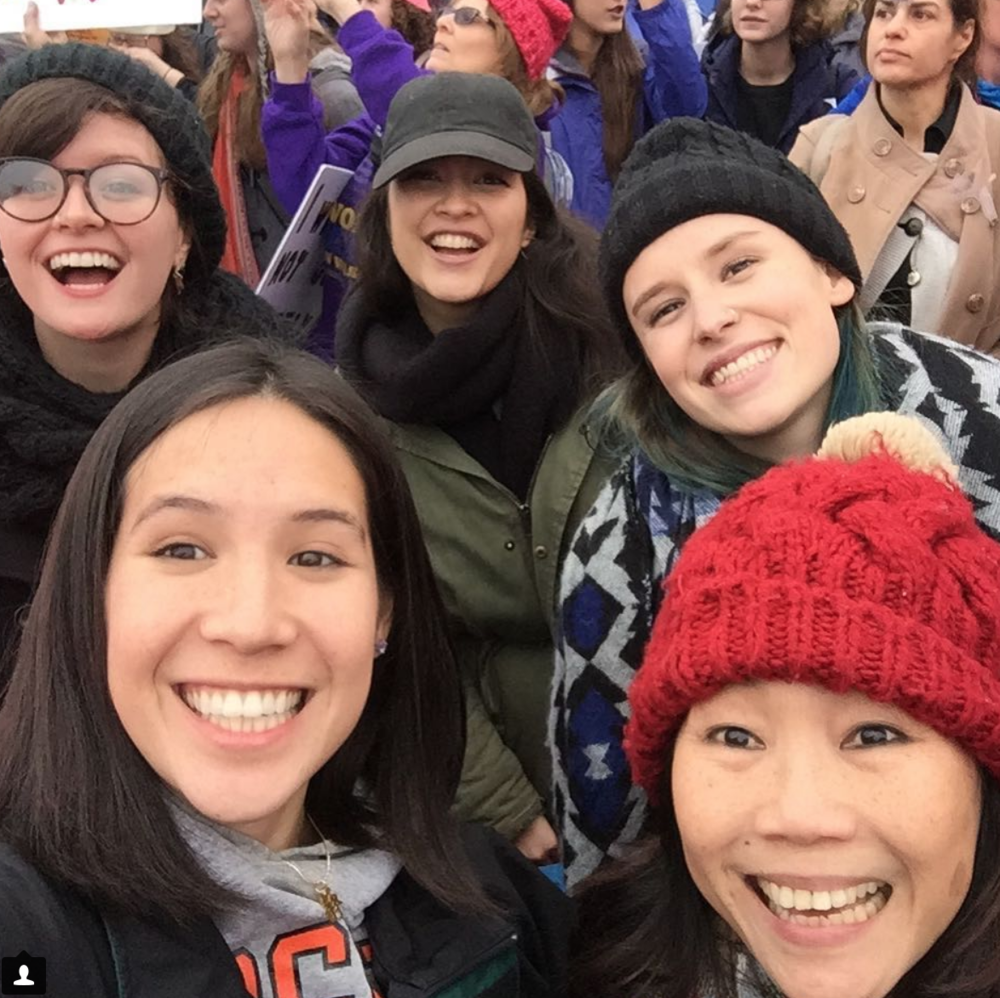 YUM CHA & co. at the 2017 Women's March on D.C., also featuring La La's madre!