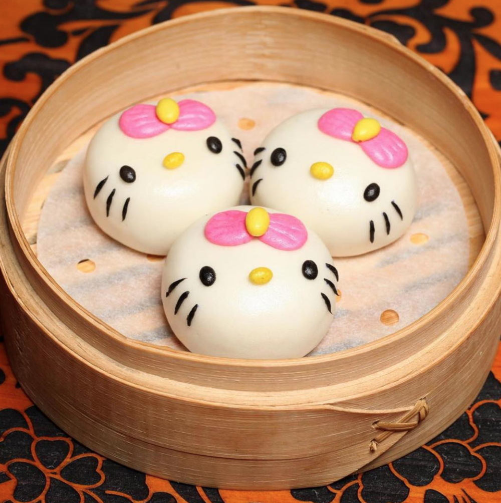 what do you think is inside these lil hello kitty baos????