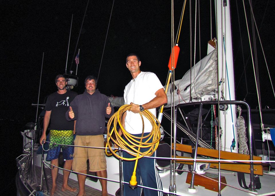 Chris, Conor and I leaving La paz at O dark thirty.