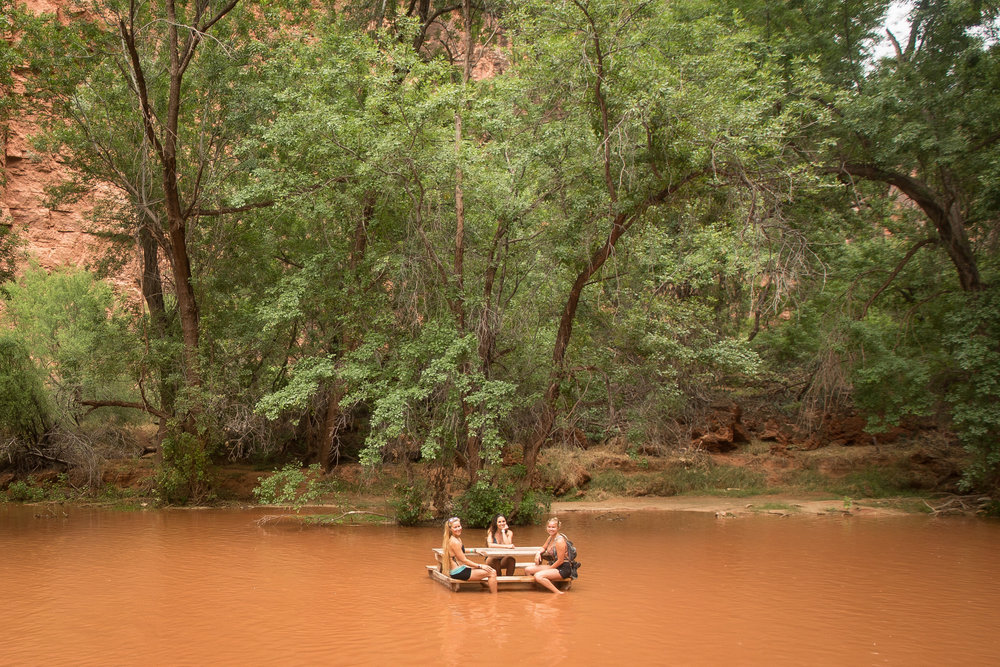 The once blue river quickly turned to chocolate milk! Yummy! Photo by Aly Nicklas.