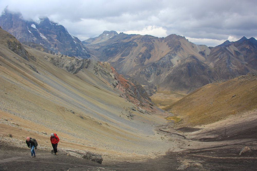 San Antonio Pass, 16,500ft. The hardest and highest pass of our trek.