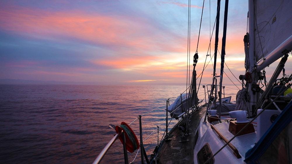 Sunrise heading to San Quintin.