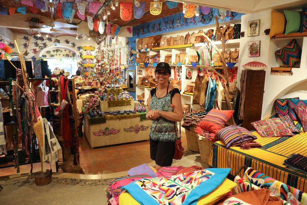 Momma souvenir shopping.