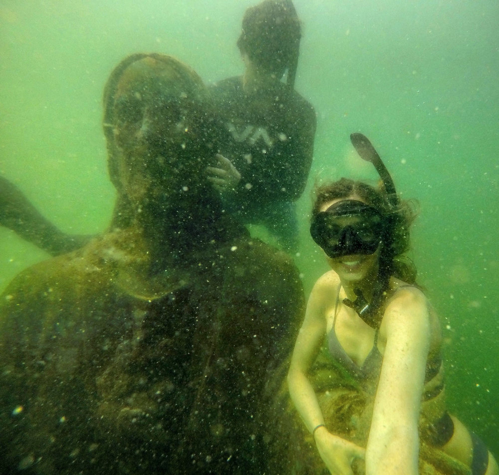 Free diving with Jesus!