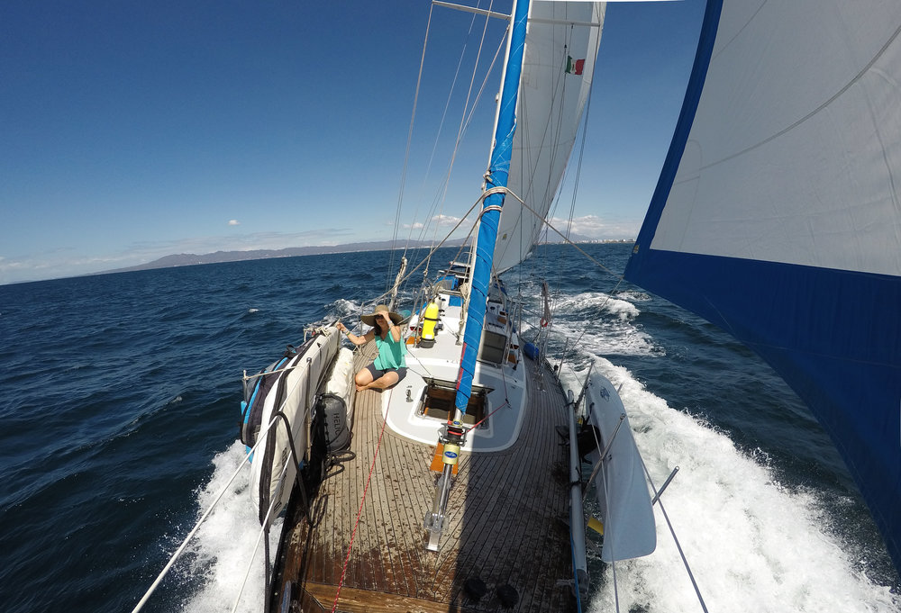 Lynn enjoying our awesome day sail!