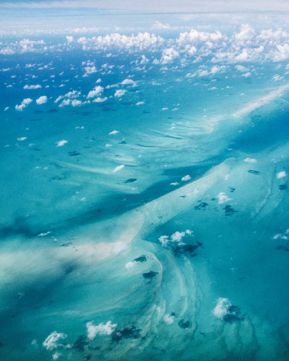 Our view flying in to Great Inagua, Bahamas.