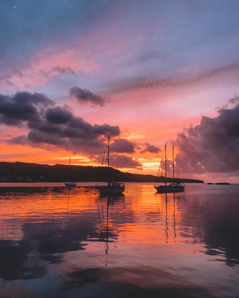 A stunning sunset in Port Antonio.