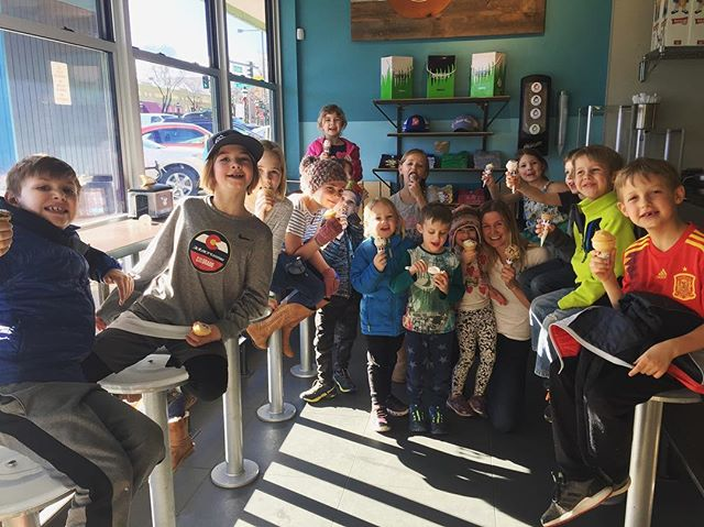 One of our favorite memories from Winter Wonder Days = surprising our sweet campers with a visit to @sweetcowicecream 🍦 Join us for our next School Day Off camp on Monday, February 18th!