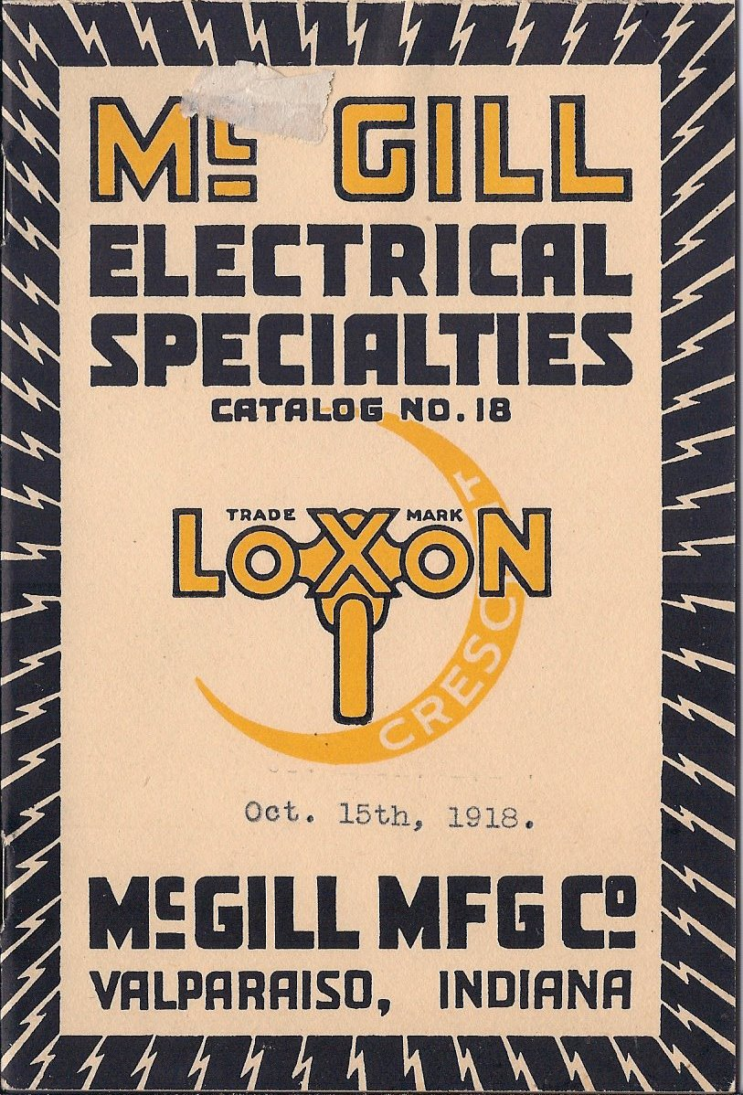 McGill Manufacturing Company Catalog, Front Cover | October 1918