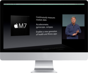 Apple does visuals in video that translate really well, as you can see in this example.