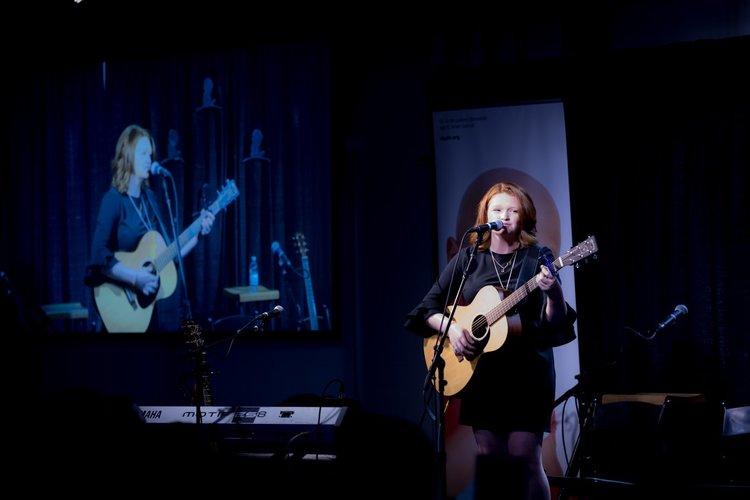 Addie performing