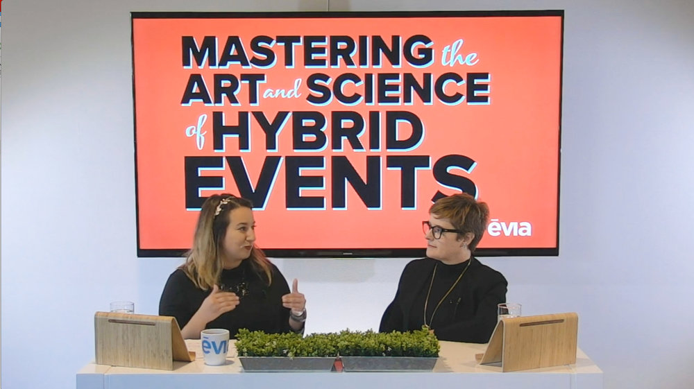 Darcy Gabriele and Colleen Ando chat about teaching you how to turn your live event into an engaging hybrid experience for your online audience.